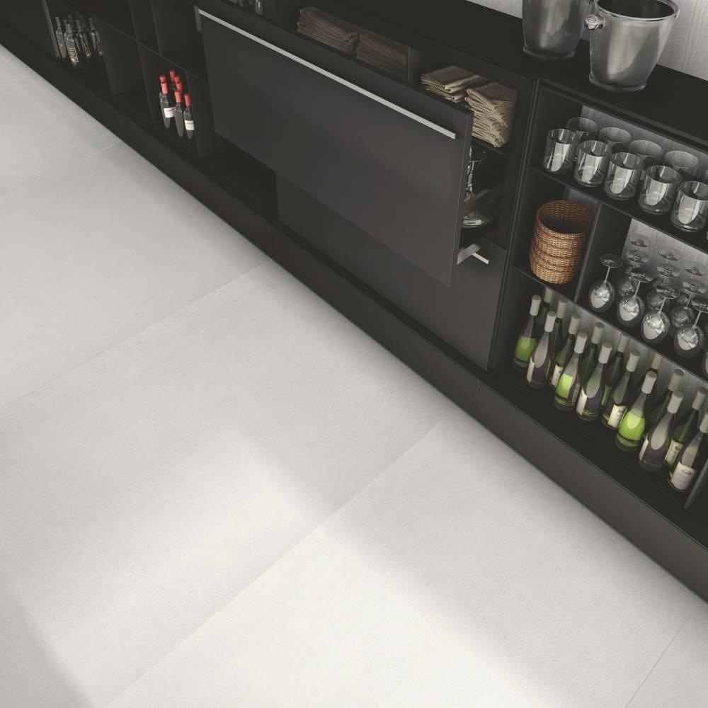 Serie Cemento Colore Bianco Rasato